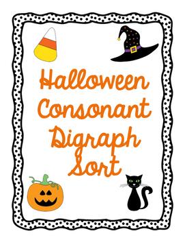 Halloween Consonant Digraph Sort