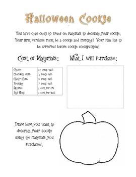 Halloween Cookie Math