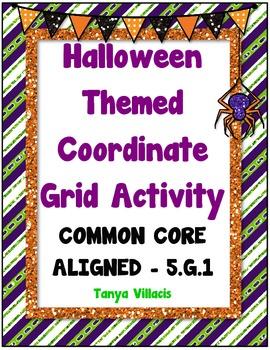 Halloween Coordinate Grid Activity COMMON CORE ALIGNED 5.G.1