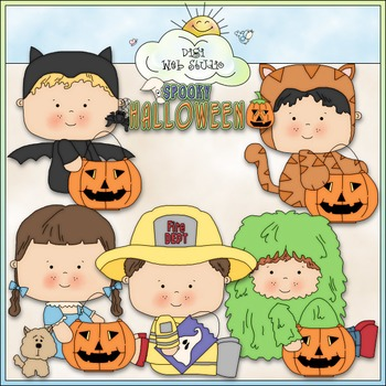 Halloween Costume Kids Clip Art 4 - Halloween Clip Art - C