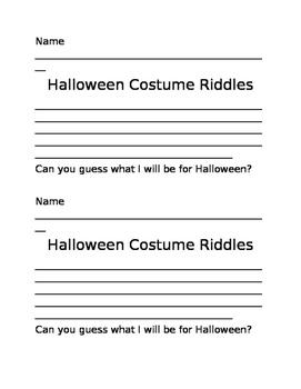 Halloween Costume Riddles