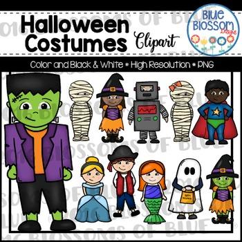 Halloween Costumes Clipart
