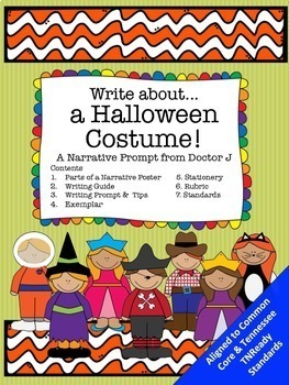 Halloween Costumes Narrative Writing Prompt Common Core TN