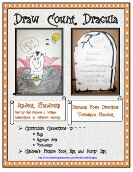 Language Arts Poetry with Halloween Art - How to Draw Coun