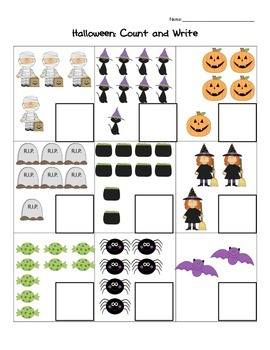 Halloween: Count and Write