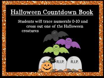 Halloween Countdown Emergent Reader