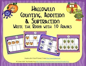 Halloween Counting, Addition & Subtraction with Ten Frames