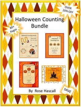 Halloween Counting Bundle-NO PREP/LOW Prep Math Printables