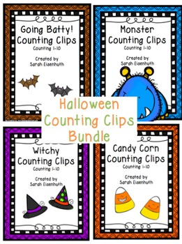 Halloween Counting Clips 1-10 (4 sets)