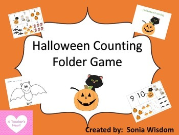 Halloween Counting - Folder/memory game