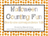 Halloween Counting Fun- One-to-one correspondence (1-20)