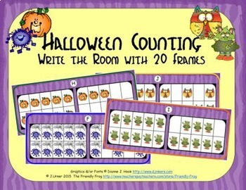 Halloween Counting with 20 Frames {Subitizing}