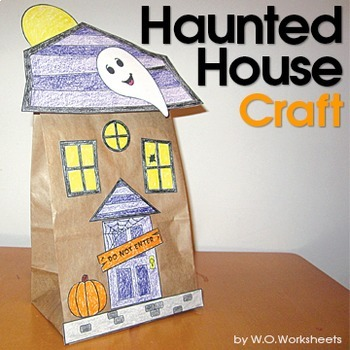 Halloween Craft Haunted House by WOWorksheets