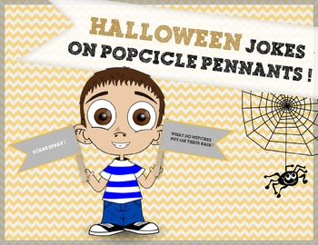 Halloween Craft Activity: Halloween Joke Popsicle Pennants!