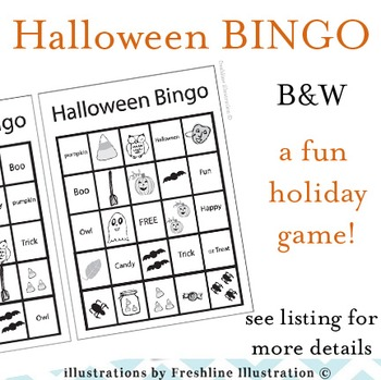 Halloween Craft, Bingo, Printable, Bats, Pumpkins, Spiders