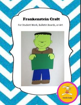 Halloween Craft -Frankenstein Craft for Writing, Bulletin