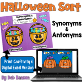 Halloween Craftivity: Synonyms and Antonyms