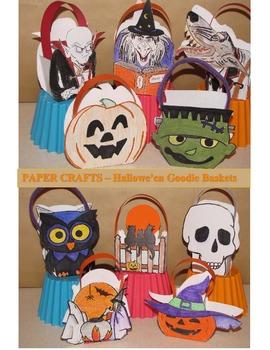 Hallowe'en Crafts - 10 Goodie Baskets & 6 Hallowe'en Cards