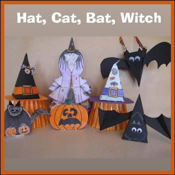 Hallowe'en Crafts - A Hat, A Cat, A Bat, Zelda the Witch &