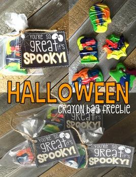 Halloween Crayon Bag Label Freebie