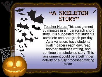 "Halloween Creative Writing: ""A Skeleton Story"""