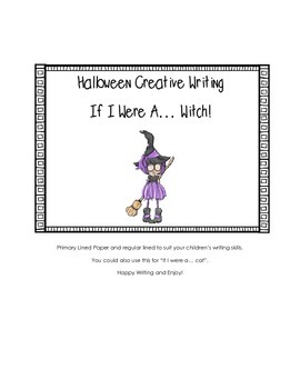 Halloween Creative Writing: If I Were A Witch!