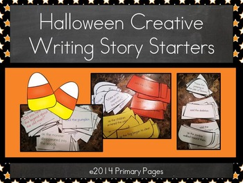 Halloween Creative Writing Story Starters (Color and Black