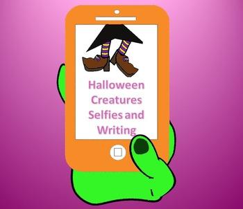 "Halloween Creatures ""Selfie"" and writing"