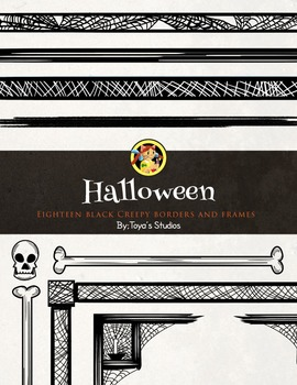 Halloween Creepy Borders and Frames