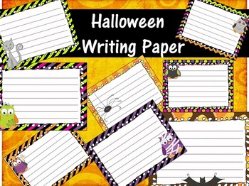 Halloween Writing Papers - Personal & Commercial use