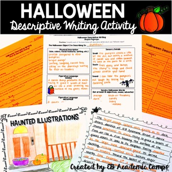 Halloween Descriptive Writing Activity for Middle School