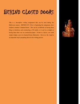 Halloween Descriptive Writing Project - Sensory Details