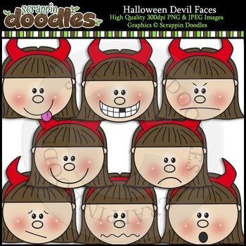 Halloween Devil Faces