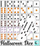 Halloween Dice, 3D Dice, Foldable Dice, Dice Dots