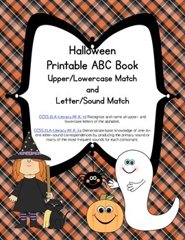 Halloween Letter Sound Printable Matching Book (Common Cor