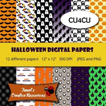 Halloween Digital Papers - CU4CU