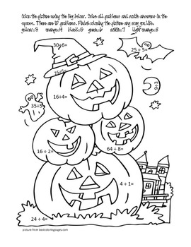 Halloween Division & Coloring