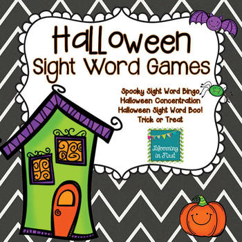 Halloween Sight Word Games Featuring the Dolch Words