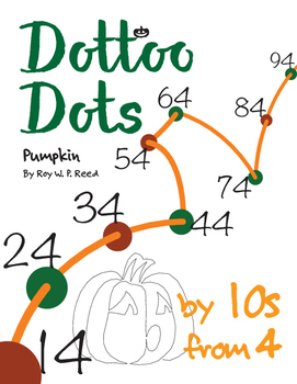 Halloween Dot to Dot page, Pumpkin, Count by 10s, start at 4