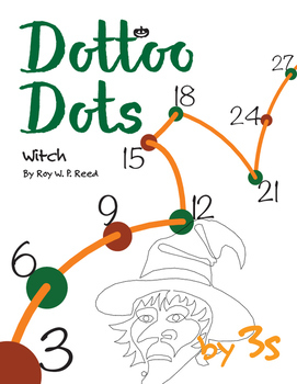 Halloween Dot to Dot page, Witch, Count by 3s