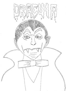 Halloween: Dracula Colouring Sheet