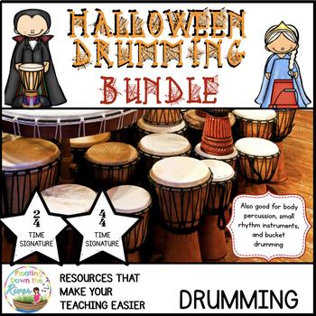 Halloween Drumming Bundle for Rhythm Fun, Composing, and P