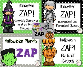 Halloween ELA Skills ZAP! Bundle
