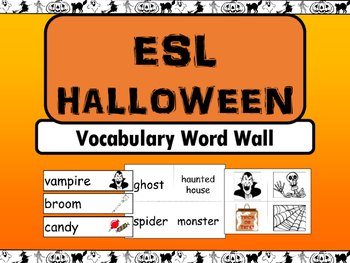 Halloween ESL Vocabulary Word Wall