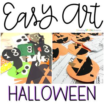 Halloween Easy Art: Adapted Art Activities