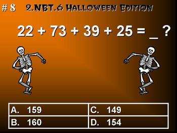 Halloween Edition 2nd Grade Common Core Math 2.NBT.6 Add F