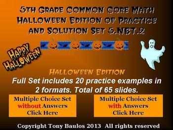 Halloween Edition 5th Grade Math 5.NBT.2 Multiply & Divide