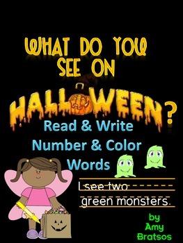 Halloween Emergent & Beginning Guided Reading Book & Writi