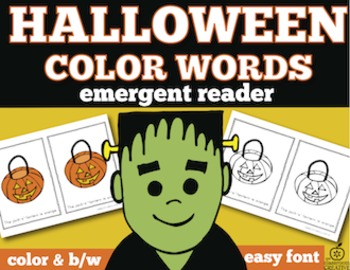 Halloween Emergent Reader: Halloween Color Words