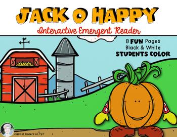 Halloween Emergent Reader {Poem: Jack O Happy} Kindergarte